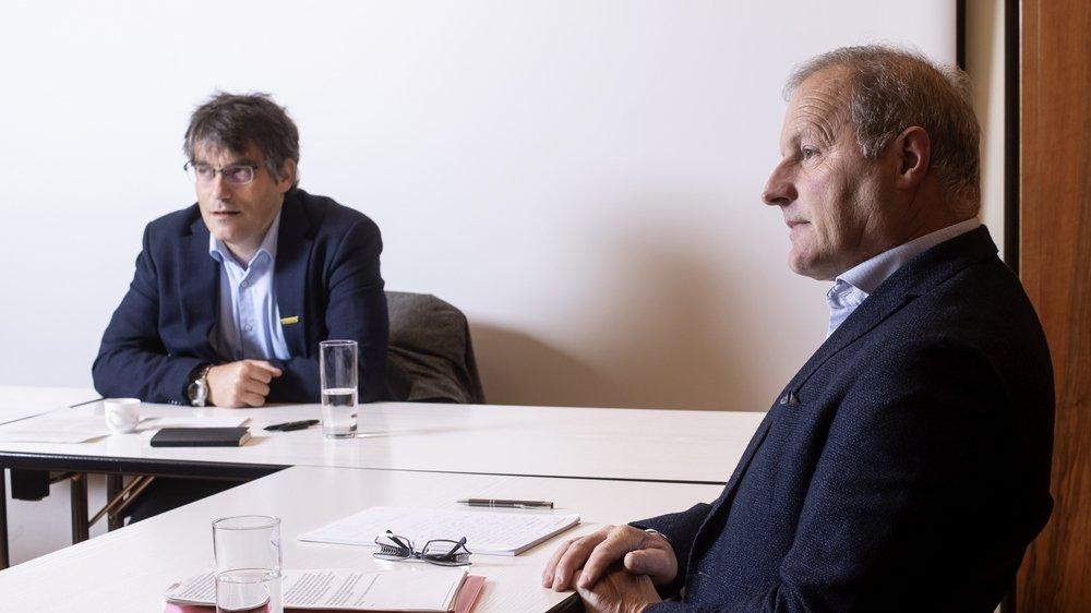 Le socialiste Roger Nordmann (à gauche) et l'agrarien Pierre-André Page ne s'accordent pas sur l'effet des taxes.