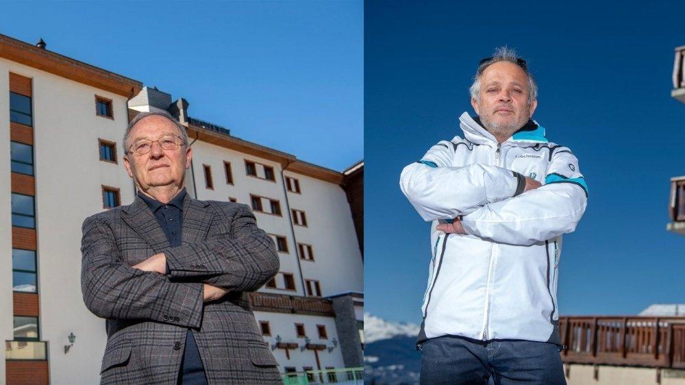 Le patron de l'hôtel Royal, Corrado Fattore, et le propriétaire de l'Ad'Eldorado, Didier Bonvin, feront opposition à la décision des communes du Haut-Plateau.