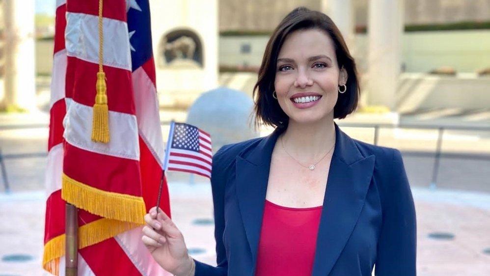 Le 19 mars, la Valaisanne a obtenu sa nationalité américaine.
