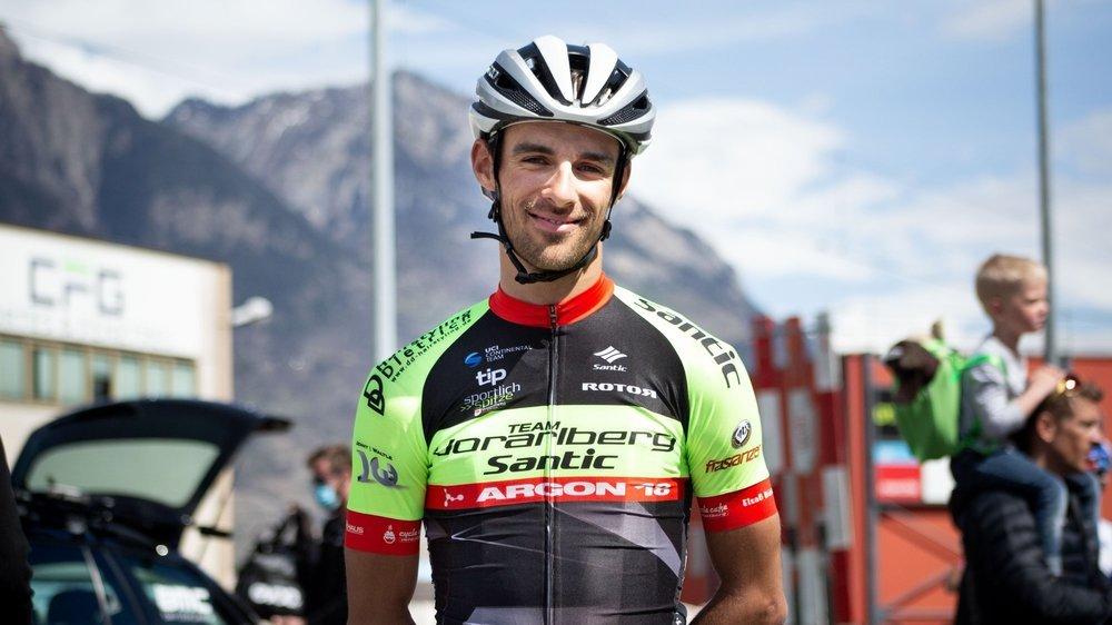 Antoine Debons a pu arborer son nouveau maillot lors du GP L'Echappée, à Martigny.