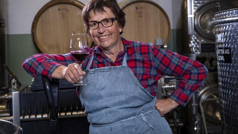 Adepte des vignes enherbées depuis trente ans, Marie-Bernard Gillioz est aujourd'hui en reconversion bio.
