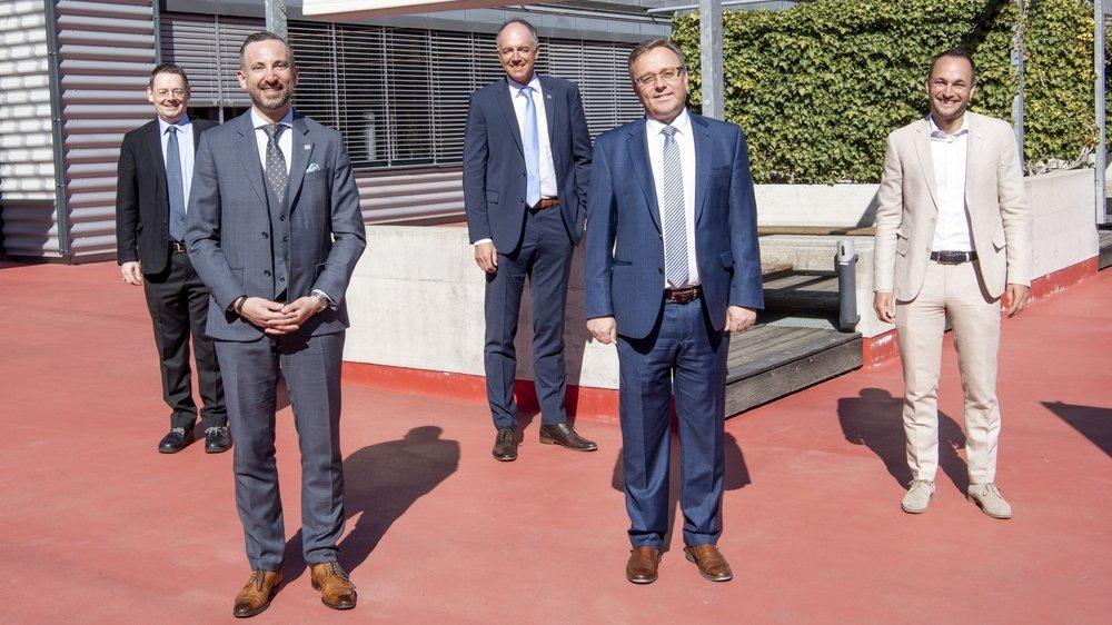Les cinq conseillers d'Etat élus dimanche dernier se sont réparti les départements.