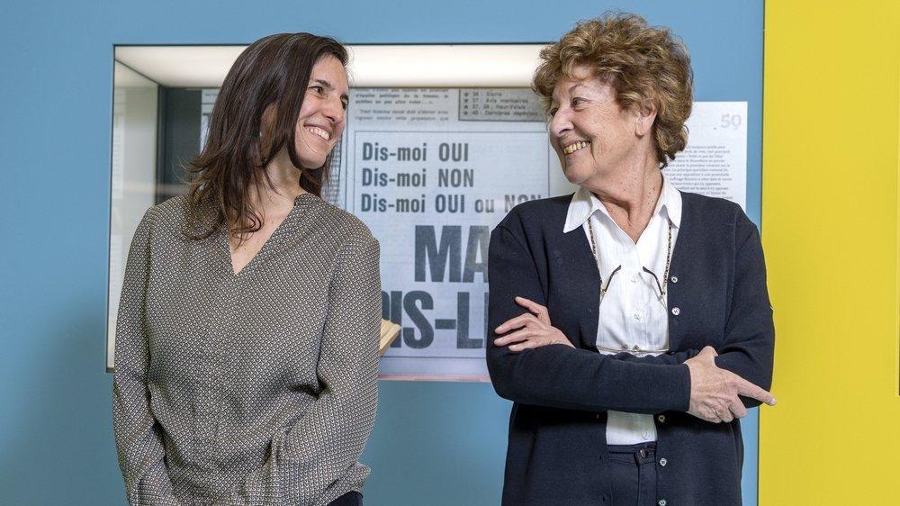 La transmission, une passion: Mélanie Pitteloud et Cilette Cretton ont toutes deux baigné dans l'enseignement.