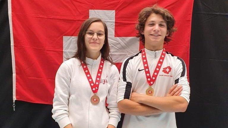 Camille de Preux et Aurèle Favre, les deux Valaisans médaillés.