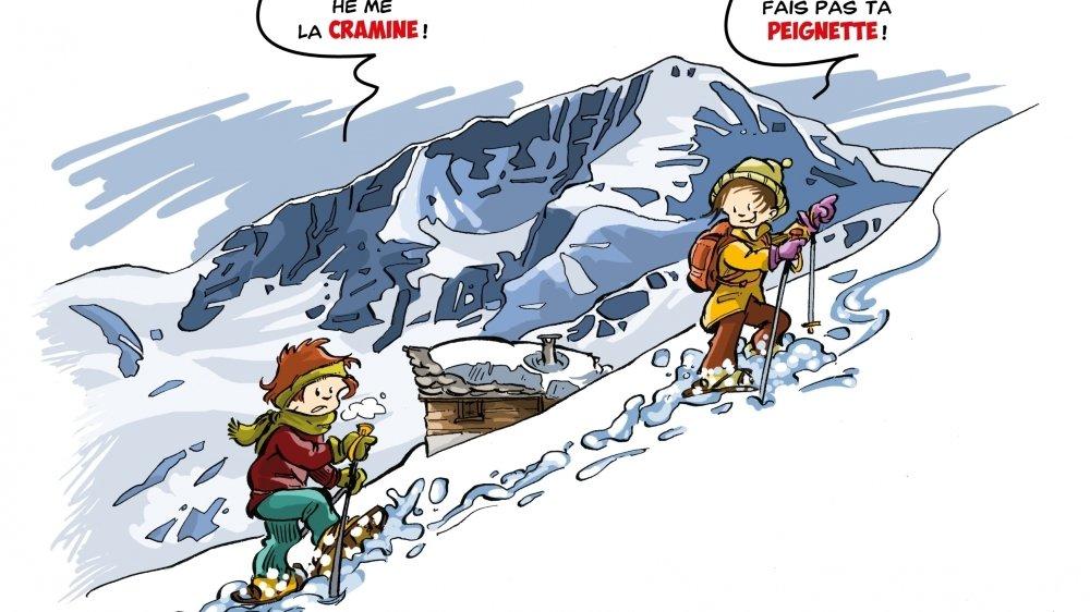 Le patois hérensard illustré par une montée au Pigne d'Arolla.