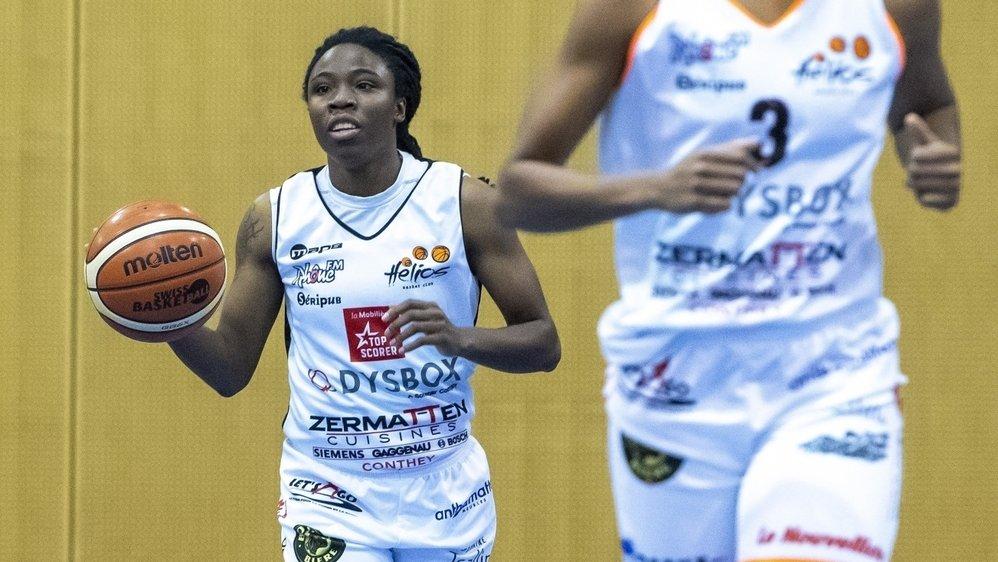 Brittany Dinkins est le métronome d'Hélios Basket. Lorsqu'elle joue bien, son équipe la suit.