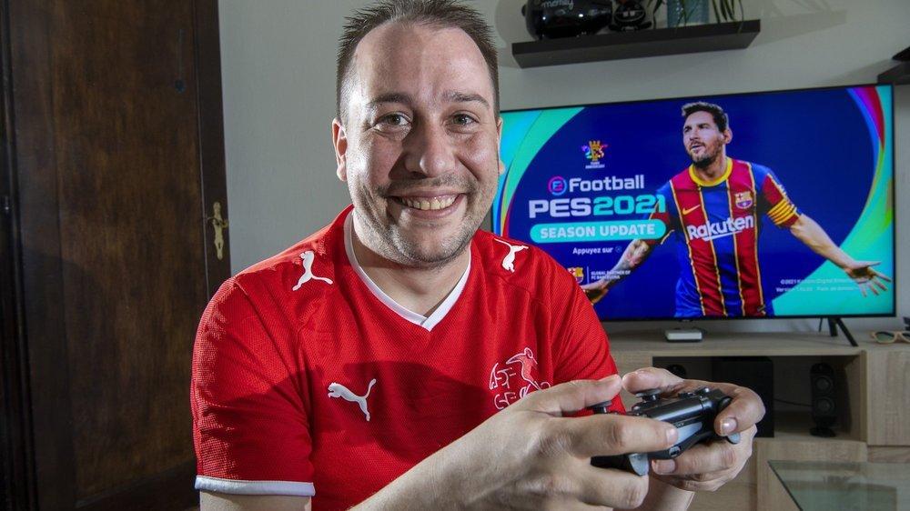 Tristan Burri est le premier Valaisan à faire partie de l'équipe nationale d'e-football lancée par l'ASF. Il défend les couleurs de la Nati à l'Euro 2021 virtuel.