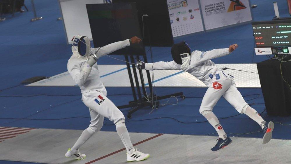 Hadrien Favre (à droite) était encore une fois tout proche d'une médaille.
