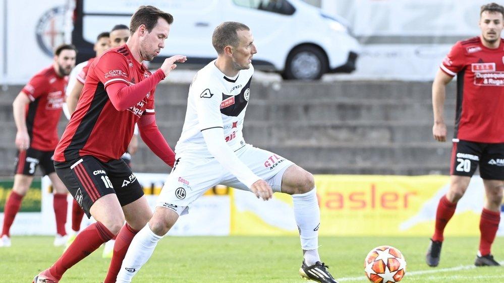 Guillaume Baillifard et le FC Monthey ont crânement joué leur chance contre Lugano et Alexander Gerndt.