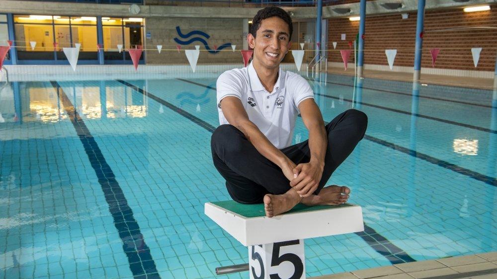 Gabriel Meshesha, nageur élite du CN Sierre et du Team Valais, nage à domicile en cette fin de semaine.