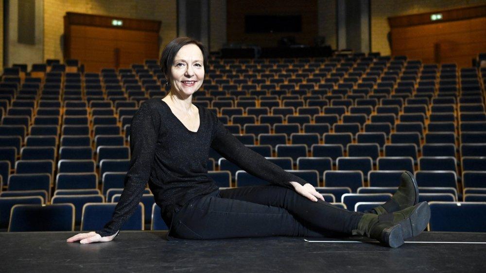 Au Crochetan, Rafaële Giovanola est dans son élément, devenue récemment artiste associée du théâtre montheysan.