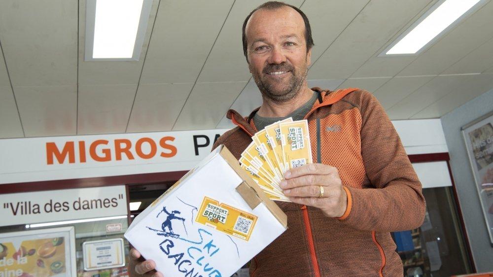 Philippe Corthay , président du ski club de Bagnes, club sportif amateur romand le plus soutenu dans l'opération du géant orange.