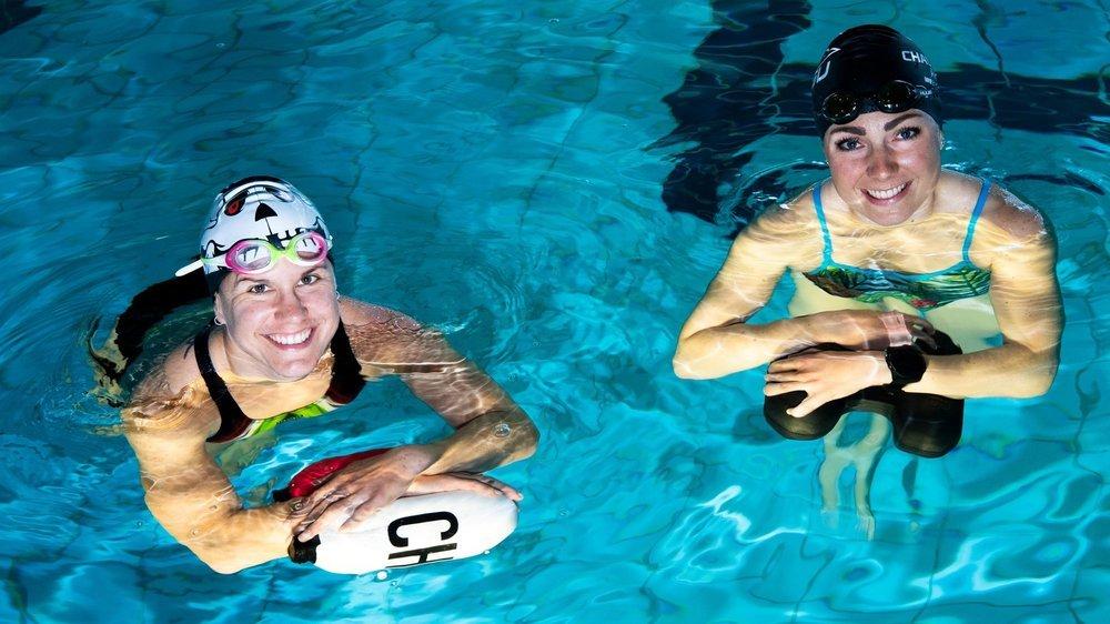 Emma Bilham et Joanna Ryter n'hésitent pas à se lever très tôt, chaque matin, pour s'entraîner à Grône.