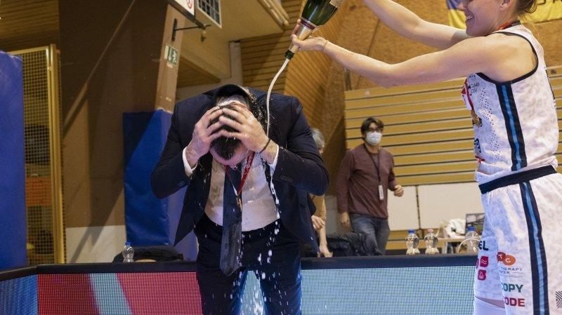 Basket: Gaspoz et Giroud champions de Suisse avec Elfic