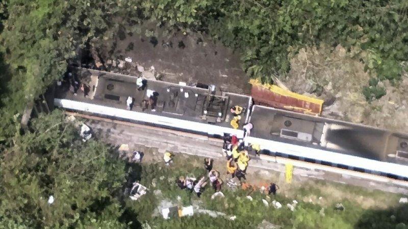 Taïwan: plus de 50 morts lors du déraillement d'un train bondé