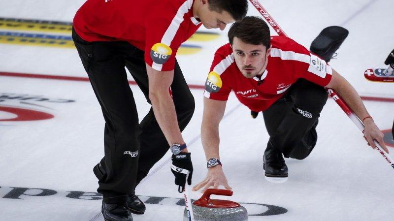 Curling: la Suisse perd contre l'Italie, mais bat la Russie au Mondial de Calgary