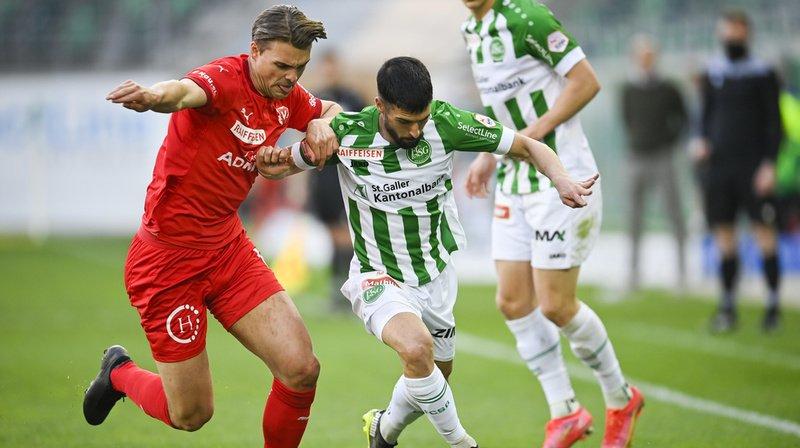 Football – Super League: de l'air pour Saint-Gall, match spectaculaire à la Tuilière