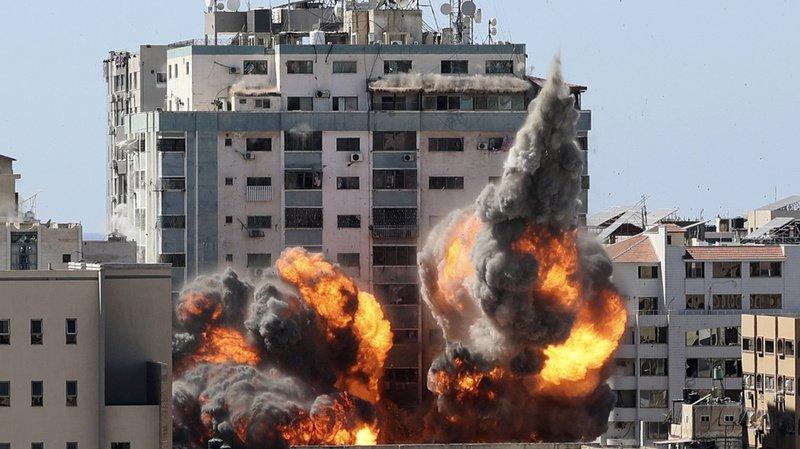 Proche-Orient: frappe israélienne sur l'immeuble d'Al-Jazeera et Associated Press