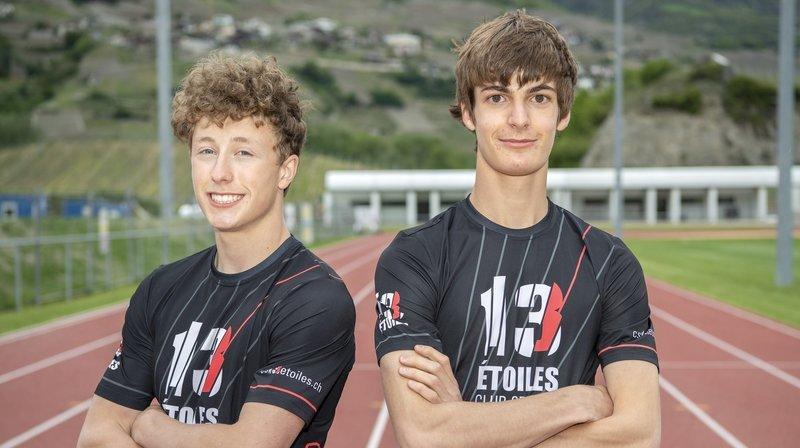 Athlétisme: Justin Fournier et Valentin Imsand ont gagné, d'un seul coup, 30 centimètres