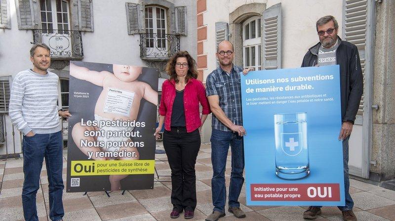 Initiatives anti-pesticides: les Verts valaisans, le WWF et Pro Natura militent pour un double oui