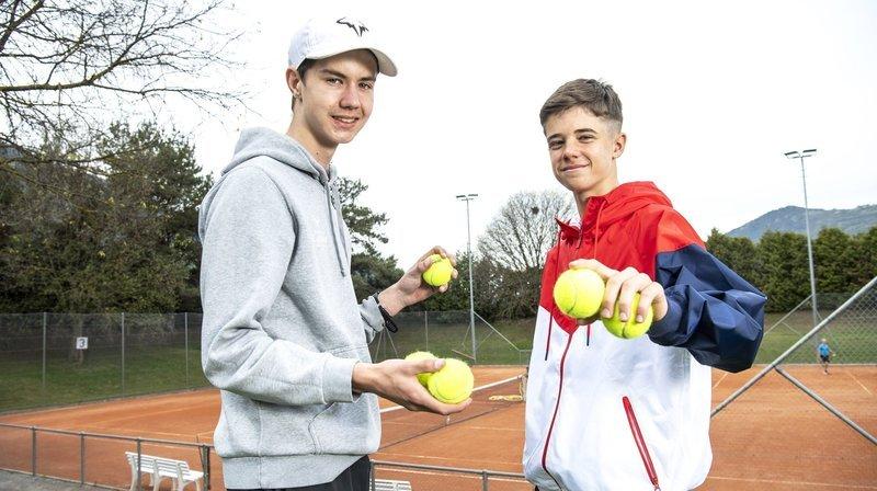 Tennis: à Sierre, les Valaisans Léo Galliano et Thomas Mathys côtoient le très haut niveau