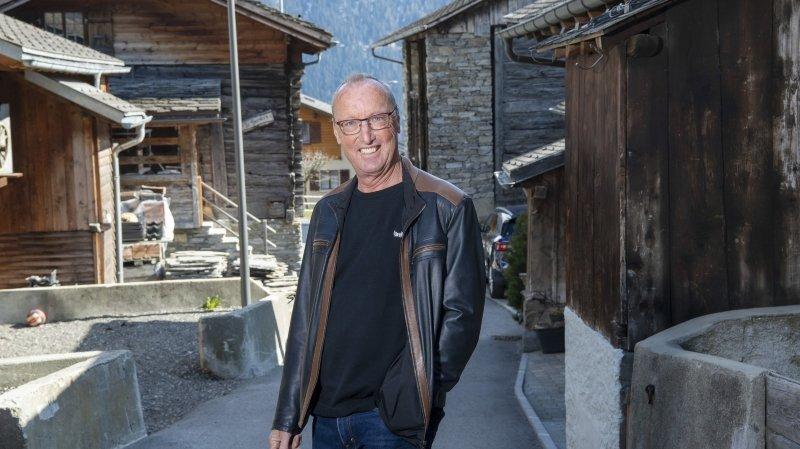 Philippe Joris se sent à l'aise au Levron, où il est revenu vivre après ses études.
