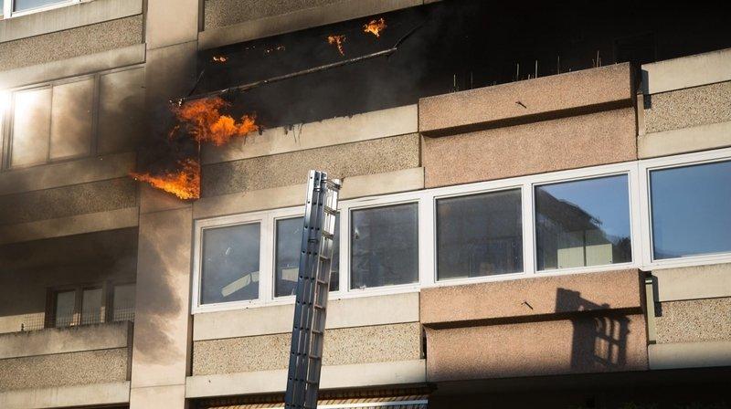 Martigny: incendie sur un balcon