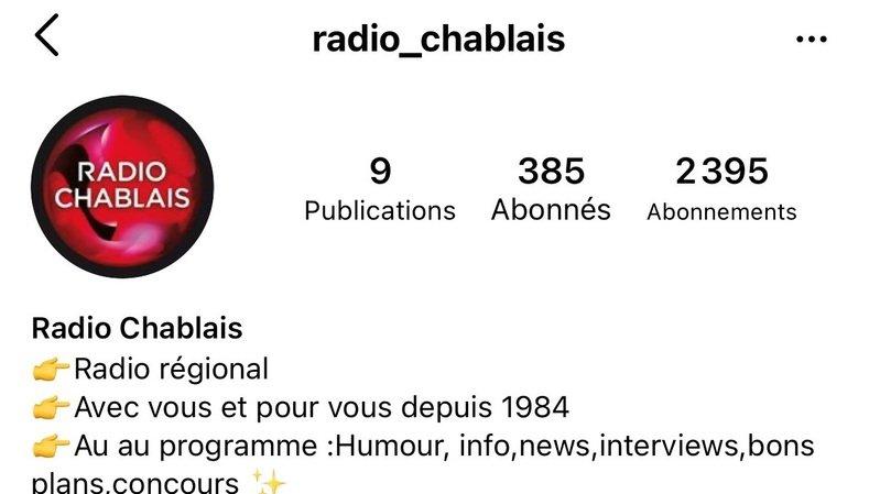 Sur Instagram, Radio Chablais s'est fait usurper son identité et n'arrive pas à s'en sortir