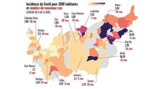 Coronavirus: l'incidence fait un bond dans le Haut-Valais