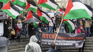 Proche-Orient: manifestations de solidarité avec les Palestiniens à Genève et Bâle