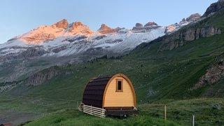 Valais: faire du camping en laissant sa caravane et sa tente à la maison