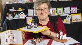 Nos artisans ont du talent: avec le kirigami, Patricia Favre met le papier en mouvement