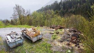 Torgon: sans container, les restes de nourriture finissent dans la nature