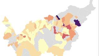 Coronavirus: la baisse du nombre de nouveaux cas se poursuit en Valais