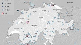 Valais central: un tremblement de terre d'une magnitude de 2,8 près de Grimisuat
