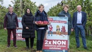 Initiatives anti-pesticides: un danger pour la production locale, selon le comité valaisan du 2x NON