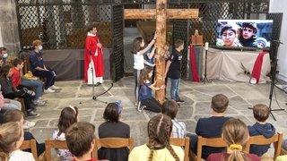 Le Christ est ressuscité. Il a 12 ans et habite Le Châble
