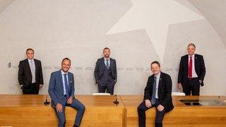 Le nouveau Conseil d'Etat valaisan officiellement constitué