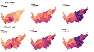 Cantonales 2021: les cartes du vote par commune, le Valais romand plébiscite la diversité au Conseil d'Etat