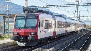 Valais: certains trains régionaux remplacés par des bus