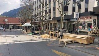 Sierre: l'avenue de la Gare transformée en chantier populaire
