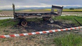 Initiatives pesticides: unchar«2 NON» incendié dans la Broye vaudoise