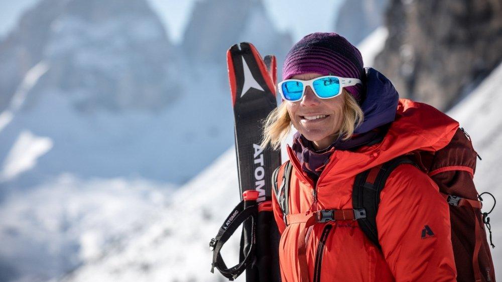 """La guide valaisanne Caroline George est la coordinatrice technique du """"100% Women Peak Challenge""""."""