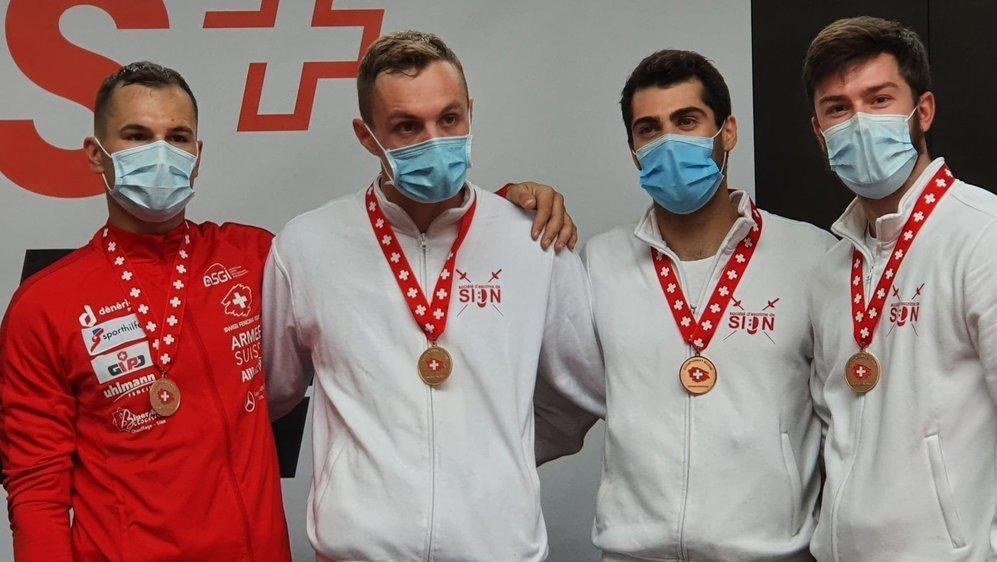 Lucas Malcotti, Clément Métrailler, Alexis Bayard et Stefan Cerruti ont terminé troisièmes par équipes, le lendemain de la victoire d'Alexis Bayard en individuel.