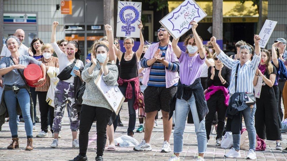 Après la grève des femmes du 14 juin 2020, les Valaisannes vont faire entendre leur voix à Berne en octobre 2021.