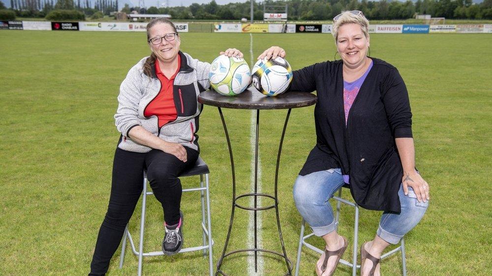 Magali Barman et Jennifer Cettou, présidentes du FC Vérossaz et du FC Massongex.