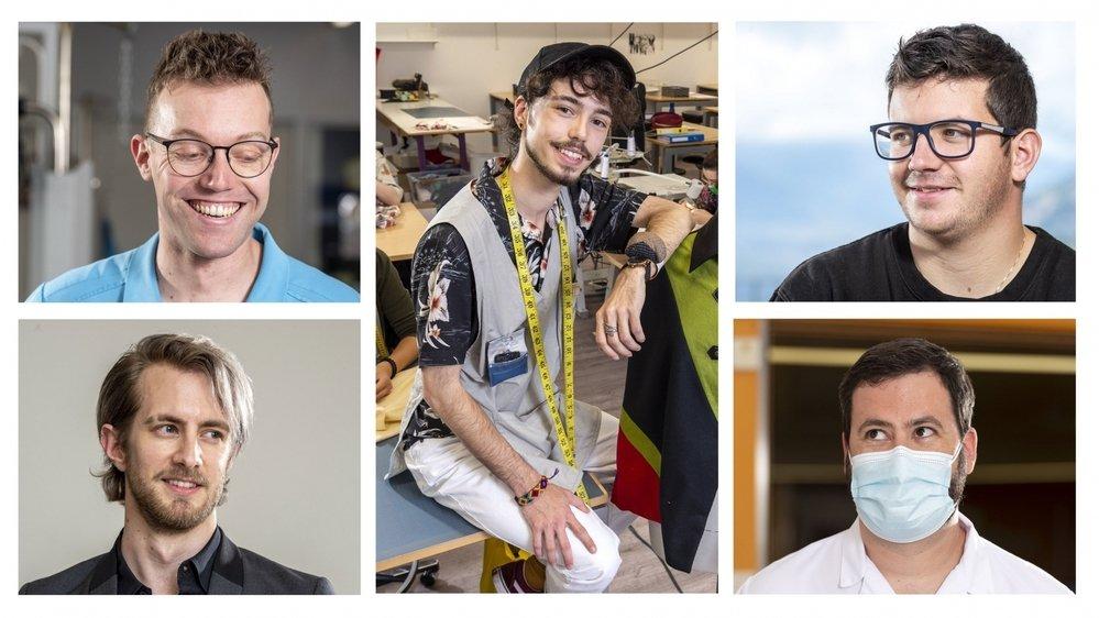 Cinq hommes évoluant dans des métiers traditionnellement dits féminins nous racontent leur quotidien.