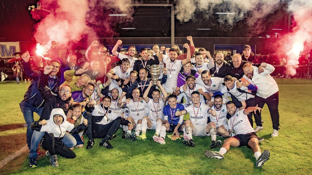 Victorieux en Coupe valaisanne, promu en 2e ligue et champion de 3e ligue, le FC Saint-Léonard a été le grand animateur de cette fin de saison.