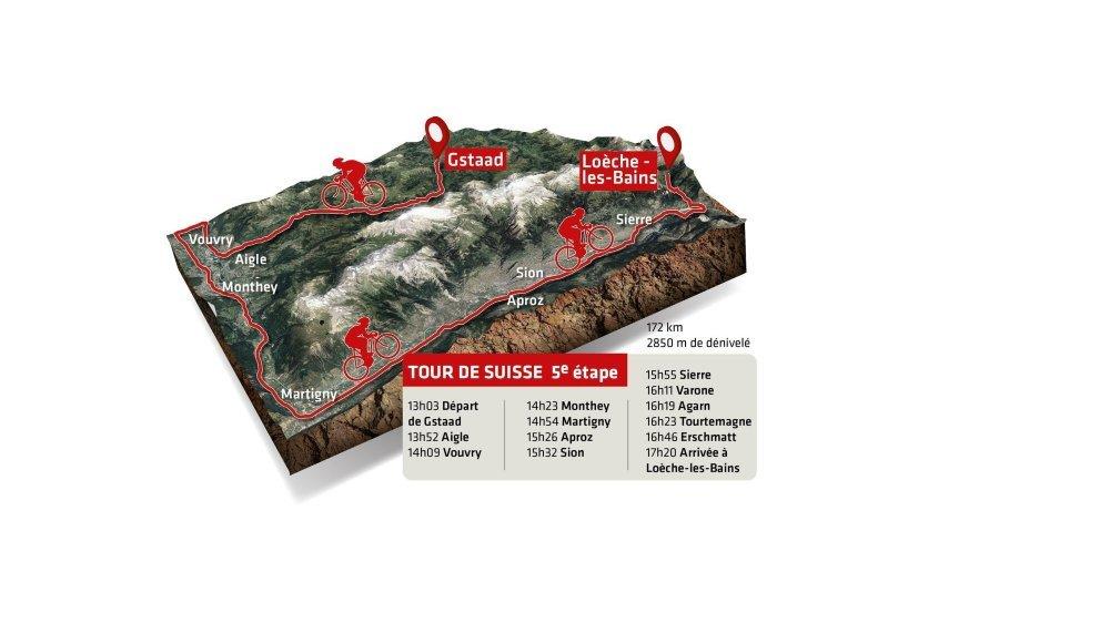 La cinquième étape arrive en Valais, jeudi.