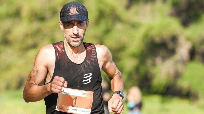 César Costa vainqueur du Trail de la Pierre A Voir avec une seule chaussure